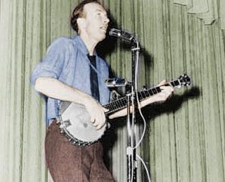 "Pete Seeger -""A good song reminds us what we're fighting for."""